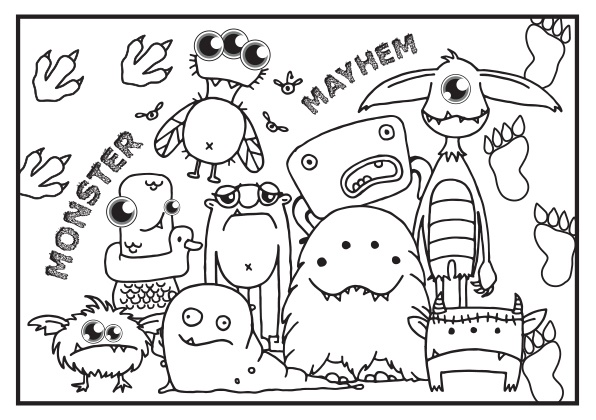 Monster FUNdraising Colouring Sheets
