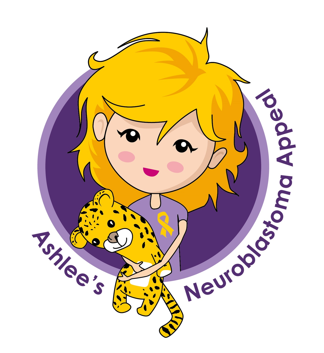 Ashlees Neuroblastoma Appeal Logo Ribbon