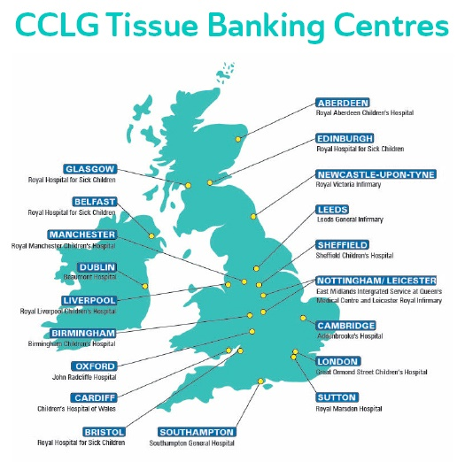 Tissue banking centres map